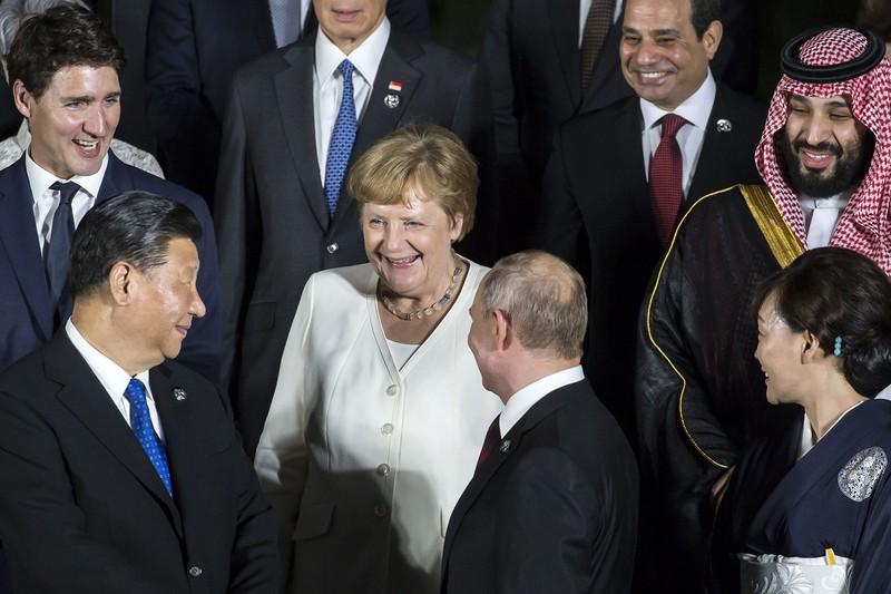 中国の「友好外交」は陰りを見せる(大阪府で2019年6月28日)(Bloomberg)