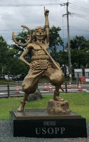 This file photo taken on July 12, 2020, shows the statue of