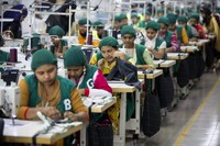 In this April 19, 2018 file photo, trainees work at Snowtex garment factory in Dhamrai, near Dhaka, Bangladesh. (AP Photo/A.M. Ahad)