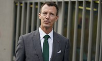 Denmark's Prince Joachim walks to work, at the Danish Embassy in Paris, France, on Sept. 18 2020. (Mads Claus Rasmussen/ Ritzau Scanpix via AP)