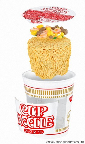 A plastic model of Nissin Foods'
