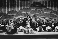 A scene featuring the character Benkei in the Kabuki play