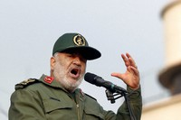 In this Nov. 25, 2019 file photo, Chief of Iran's Revolutionary Guard Gen. Hossein Salami speaks at a pro-government rally, in Tehran, Iran. (AP Photo/Ebrahim Noroozi)