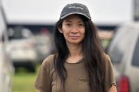 Chloe Zhao attends the Telluride from Los Angeles drive-in screening of