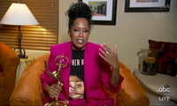 In this video grab captured on Sept. 20, 2020, courtesy of the Academy of Television Arts & Sciences and ABC Entertainment, Regina King accepts the award for outstanding lead actress in a limited series or movie for