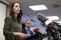 New Zealand Prime Minister Jacinda Ardern addresses a press conference on the latest COVID-19 updates in Auckland, New Zealand, on Sept. 21, 2020. (Greg Bowker/NZ Herald via AP)