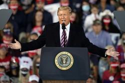 トランプ米大統領=2020年9月22日、AP