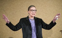 In this Aug. 19, 2016, file photo, Supreme Court Justice Ruth Bader Ginsburg is introduced during the keynote address for the State Bar of New Mexico's annual meeting in Pojoaque, N.M. (AP Photo/Craig Fritz)