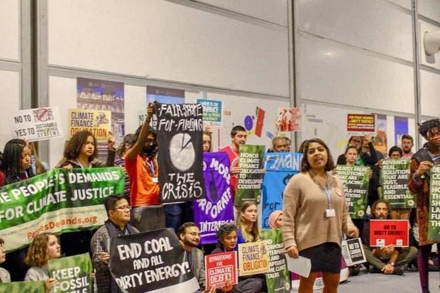 COP24における気候危機デモの様子=筆者撮影