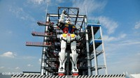 A life-size moving Gundam statue is seen at the Gundam Factory Yokohama complex in Yokohama, Kanagawa Prefecture, in this photo provided by Sotsu Co. and Sunrise Inc.