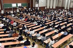 2020年1月に実施された最後の大学入試センター試験(東京大学で)