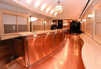 A space in the third car of Kyushu Railway Co.'s new sightseeing train