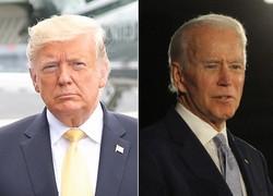 トランプ大統領(左)とバイデン前副大統領