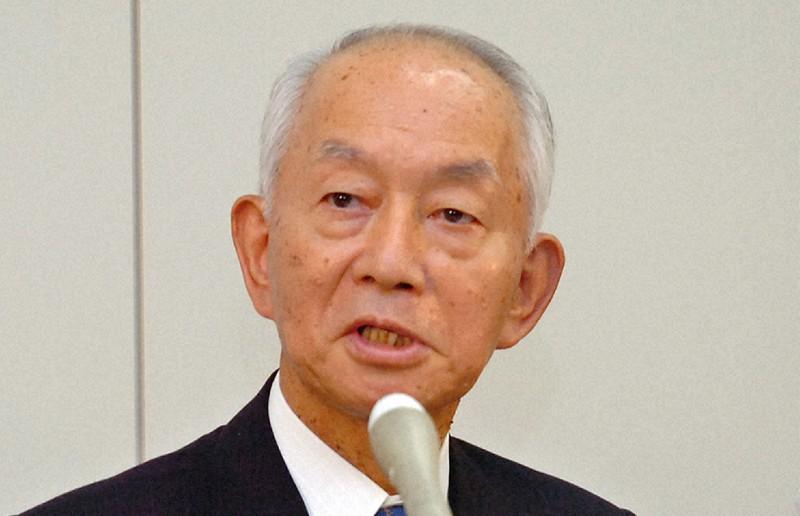 日本郵政株式会社の初代社長に就任した西川善文氏(2005年11月11日総務省で野田武写す)