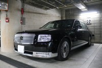 "The Toyota Century bought by Yamaguchi Prefecture to transport ""honored guests"" but currently being used by the prefectural assembly chairman is seen in the prefectural headquarters' car park on Sept. 24, 2020. (Mainichi/Hideho Furihata)"