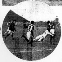 慶応普通は1回戦で天理中に32-3と快勝=南甲子園運動場で1930年1月3日