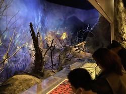 朝鮮戦争の激戦地の様子を再現した紀念館の展示=米村耕一撮影