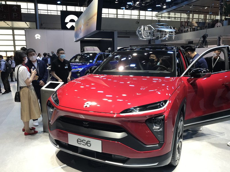 蔚来汽車(NIO)の売れ筋SUVのEV「ES6」(2020年9月の北京モーターショーで筆者撮影)