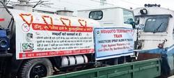 「モスキート・ターミネーター」列車 インド国鉄デリー支部提供
