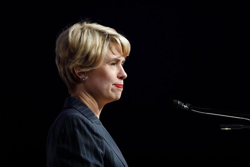 リード総裁のリーダーシップをアピールするはずだったが(写真は2019年9月)(Bloomberg)