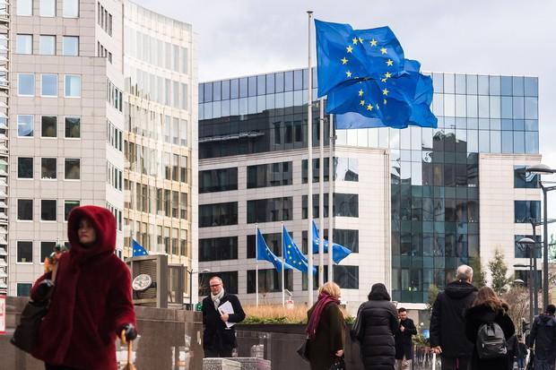 EU競争法を所管する欧州委員会(Bloomberg)