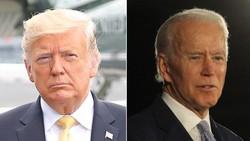 米大統領選で争う共和党のトランプ氏(左)と民主党のバイデン氏
