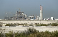 The coal-powered Hassyan power plant is seen under construction in Dubai, United Arab Emirates, on Oct. 14, 2020. (AP Photo/Kamran Jebreili)