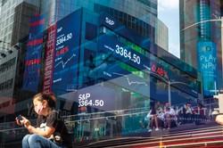 コロナ禍にもかかわらず米国株は高値圏で推移している (Bloomberg)