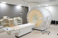 A magnetic resonance imaging system layout is seen in this file photo taken at the Yawatahama City General Hospital in Ehime Prefecture. (Mainichi)