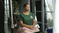 This image released by PBS shows activist and Black Lives Matter co-founder Patrisse Cullors during the filming of the documentary