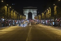 In this Oct. 17, 202 file photo, Champs-Elysees avenue is almost empty during curfew in Paris. (AP Photo/Lewis Joly)
