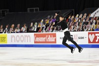 Nathan Chen, of the United States, competes during the men's short program in the International Skating Union Grand Prix of Figure Skating Series on Oct. 23, 2020, in Las Vegas. (AP Photo/David Becker)