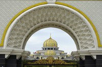 The National Palace is seen in Kuala Lumpur, Malaysia, Sunday, Oct. 25, 2020. (AP Photo/Vincent Thian)