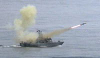 In this May 16, 2007 file photo, a Taiwanese navy frigate launches a