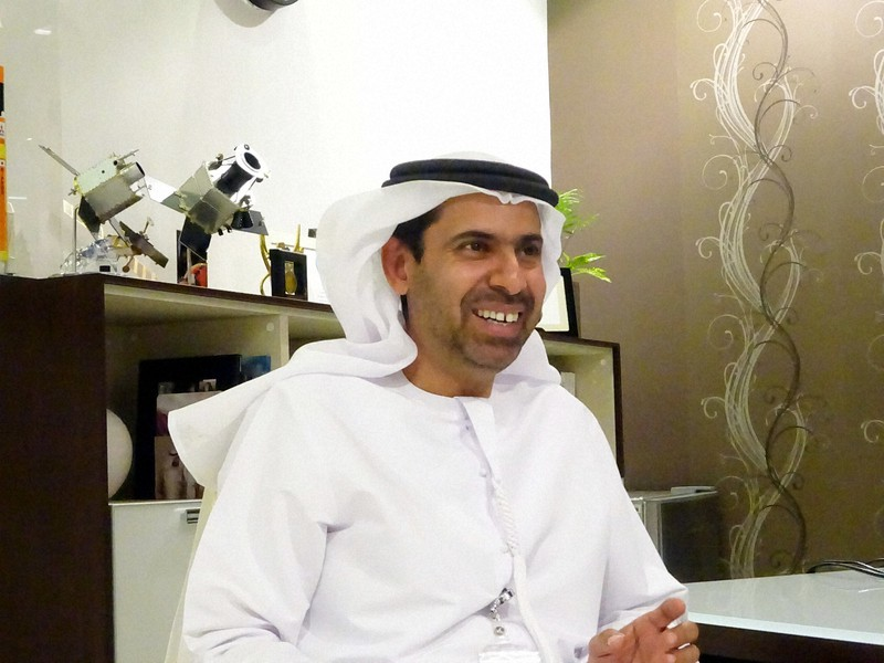 アラブ首長国連邦で宇宙開発に携わるユセフ・シャイバニ氏=2018年3月、篠田航一撮影