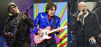 In this combination photo, from left, Neil Young performs at the BottleRock Napa Valley Music Festival in Napa, California on May 25, 2019, John Fogerty performs at the New Orleans Jazz and Heritage Festival in New Orleans on May 5, 2019 and Phil Collins performs during his