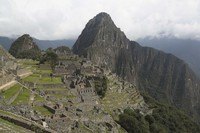 The Machu Picchu archeological site is devoid of tourists while it's closed amid the COVID-19 pandemic, in Peru, on Oct. 27, 2020. (AP Photo/Martin Mejia)