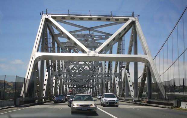 サンフランシスコの無料高速道路(筆者撮影)