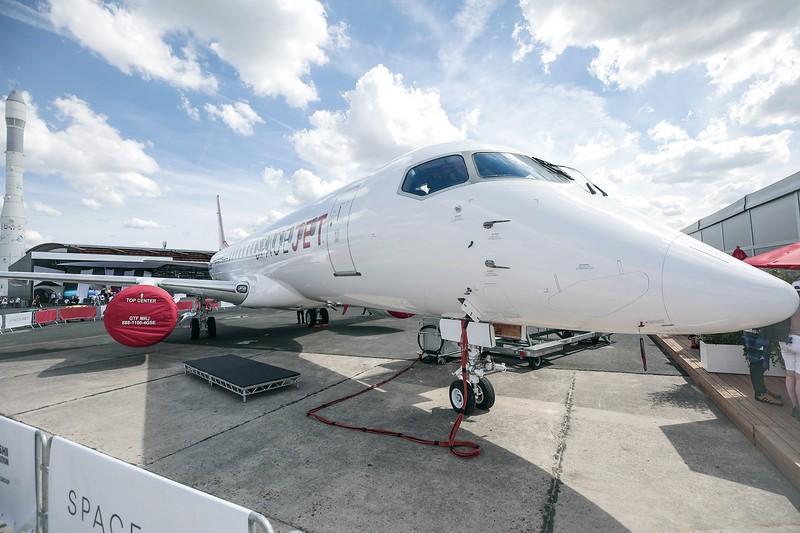 パリ航空ショーで初披露のMSJ(2019年6月) (Bloomberg)