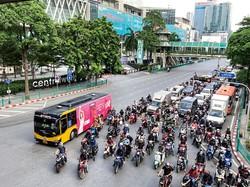 バンコク中心部の様子。3月までは多くの観光客の姿が見られた 筆者撮影