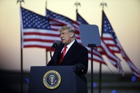 President Donald Trump speaks at a campaign rally on Oct. 30, 2020, in Rochester, Minn. (AP Photo/Bruce Kluckhohn)
