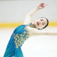 【西日本フィギュアスケート選手権第2日】女子フリーで演技をする山下真瑚=京都アクアリーナで2020年10月31日(代表撮影)