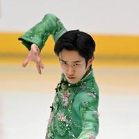 【西日本フィギュアスケート選手権第2日】男子フリーで1位となり逆転で優勝した山本草太=京都アクアリーナで2020年10月31日(代表撮影)