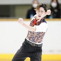 【西日本フィギュアスケート選手権第2日】男子フリー、演技をする田中刑事=京都アクアリーナで2020年10月31日(代表撮影)
