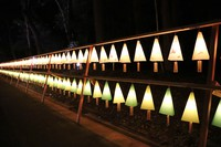 Lanterns are seen at the