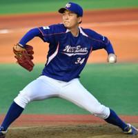【西武2位指名】佐々木健(NTT東日本)投手/高校時代は全国的に無名の存在。最速153キロの直球を投げ込み、落差のあるチェンジアップが決め球=2020年10月5日、西夏生撮影