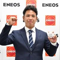 【楽天3位指名】藤井聖(ENEOS)投手/最速150キロの切れの良い直球で三振を量産する本格派左腕。19年秋のアジア選手権では社会人代表にも招集された=ENEOS提供