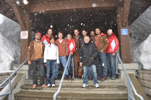2010年のバンクーバー五輪直前、スイス代表の合宿に参加した竹内さん(カナダ・バンクーバー島で) 竹内智香さん提供