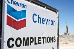 米メジャーのシェブロンはもともとパーミアンで鉱区を持っていたが、ノーブル・エナジー買収で経営効率化をさらに進める (Bloomberg)