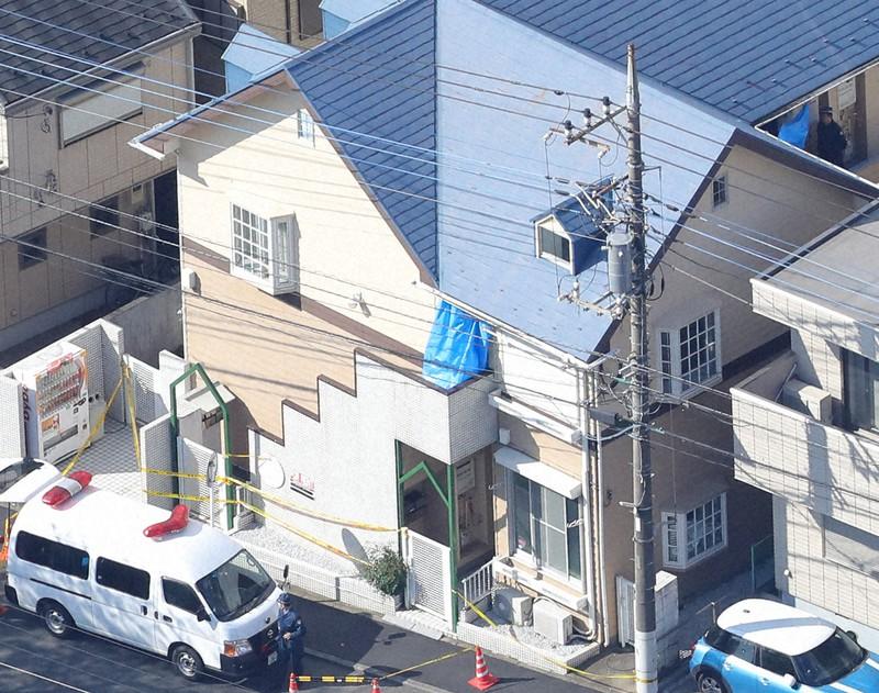 Diambil oleh Daisuke Wada dari helikopter kantor pusat pada 11 November 2017 di Kota Zama, Prefektur Kanagawa, tempat tinggal terdakwa Takahiro Shiraishi, di mana sembilan mayat ditemukan.